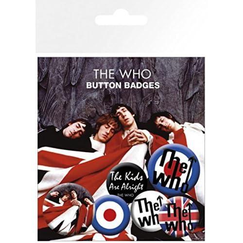 The Who - The Kids Are Alright, 4 X 25mm & 2 X 32mm Chapas Set De Chapas (15 x 10cm)