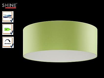 Plafoniera Tessuto : Grandi led plafoniera shine loft Ø 100 cm tessuto paralume verde