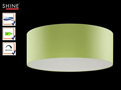 Plafoniere Tessuto Design : Grandi led plafoniera shine loft Ø cm tessuto paralume verde