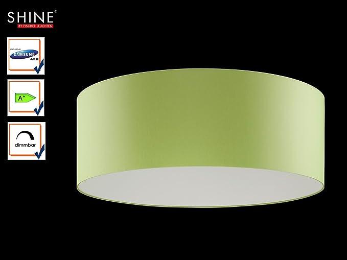 Plafoniere Grandi Per Camera : Grandi led plafoniera shine loft Ø 100 cm tessuto paralume verde