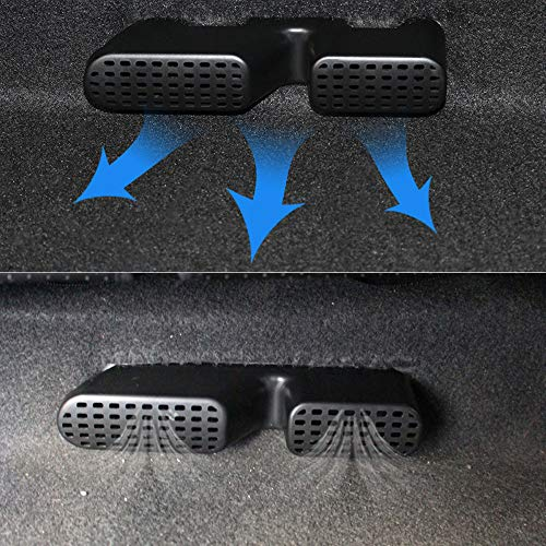 Gold Happy 2Pcs Under Rear Seat Air Outlet Cover A/C Heater Floor Air Conditioner Duct Grill Grille for Hyundai Tucson