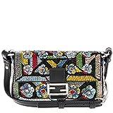 Fendi Women's Micro 'Baguette' Embellished Shoulder Bag Multicolor