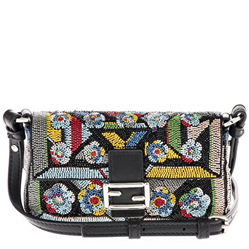 Fendi-Womens-Micro-Baguette-Embellished-Shoulder-Bag-Multicolor