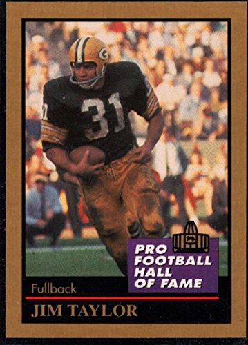 Football NFL 1991 ENOR Pro Football HOF #136 Jim Taylor NM-MT Packers ()