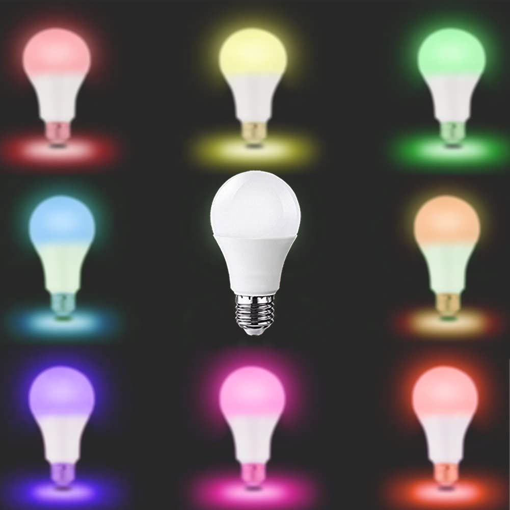Komifa Smart Bulb Echo Wifi Light Bulb 7W Multicolor RGBW LED Bulb E27 // E26 1 Pack Work with  Alexa Google Home