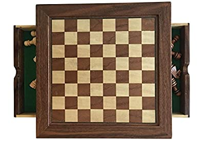 NEW! Complete All You Need Chess Set, Magnetized Wood Chess Set, Wood Chessmen, Includes Basic Chess Rules