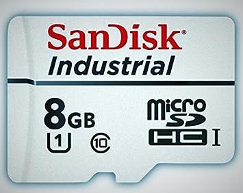 Sandisk Industrial 8 GB MicroSD SDHC UHS-1 Class 10 tarjeta ...