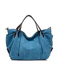 Hobo Handbag Vintage Canvas Tote Bag large Capacity Crossbody Shoulder Bag Messenger Bag Purse