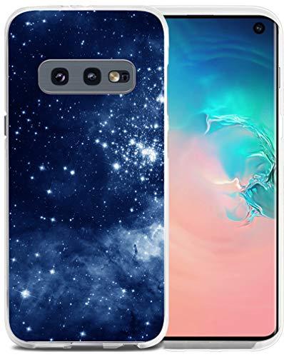 Case for S10E Nebula - Case for S10E - CCLOT Cover Compatible for Samsung Galaxy S10E TPU Flexible Galaxy Space Star View (TPU Protective Silicone Bumper Skin)