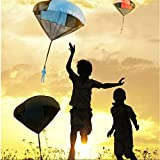 Plane & Parachute Toys - Kids Tangle Toy Hand Throwing Parachute Kite Outdoor Play Game Toy - Dog Plaything Sky Dive - 1PCs