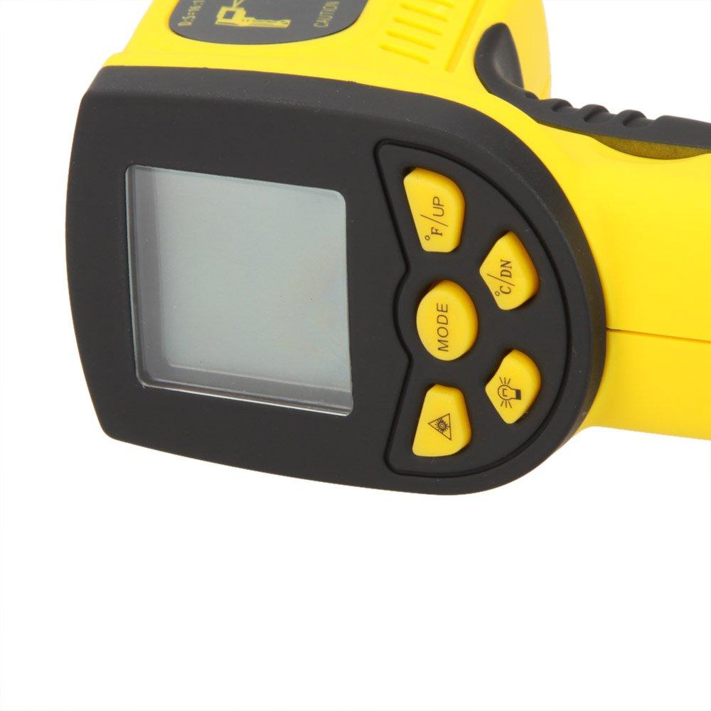KKmoon HP-1300 16:1 Infrarrojo Ir Sin Contacto Termómetro Láser Temperatura Pistola Sensor Metro Rango -50 ~ 1300 ℃: Amazon.es: Bricolaje y herramientas