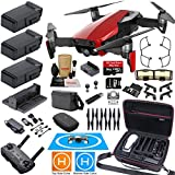 DJI Mavic Air Fly More Combo (Flame Red) Elite Bundle with 3 Batteries, 4K Camera Gimbal, Professional Carrying Case and Must Have Accessories For Sale