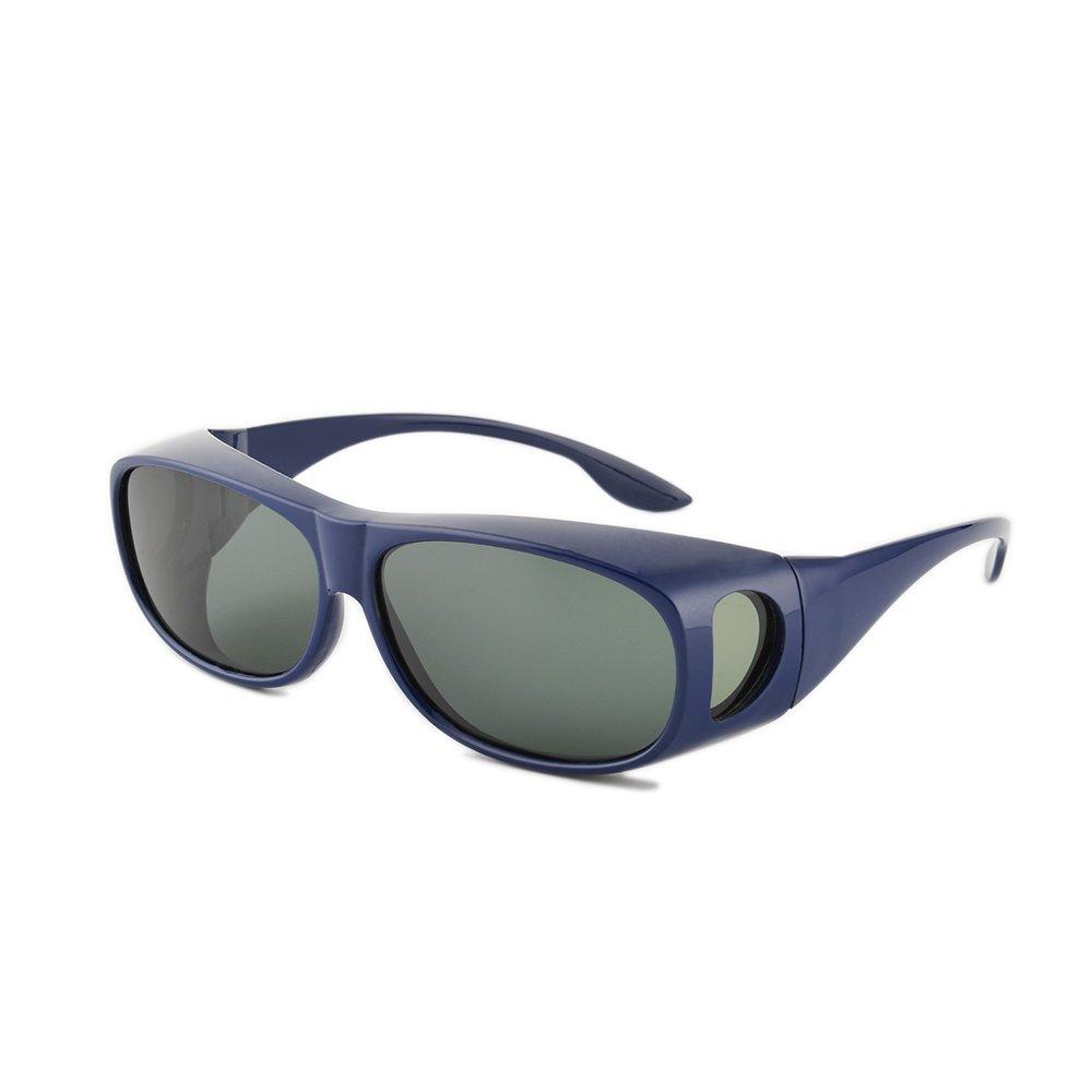 Gudzws Sunglasses Wear Over Cover Prescription Glasses Polarized Outdoor Unisex