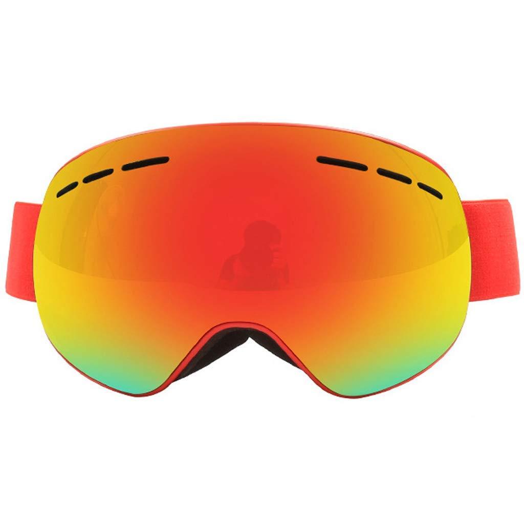 スキーゴーグル、スキースノーボードジェットスノー女性男性10代 - メガネアンチフォグUV互換交換レンズサングラス (色 : A) B07SX1KP83 A