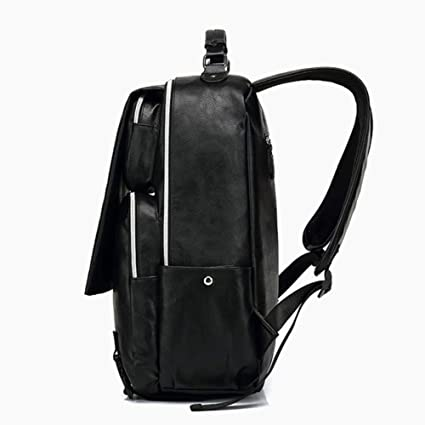 Amazon.com: Men Backpack PU Leather Leisure Bag Multifunctional Travel Backpack Man Business Laptop Shoulder Bag: Computers & Accessories