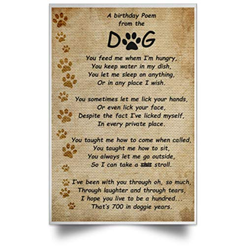 Pawmatude A Birthday Poem from The Dog Funny Poster Gift for Dog Lovers