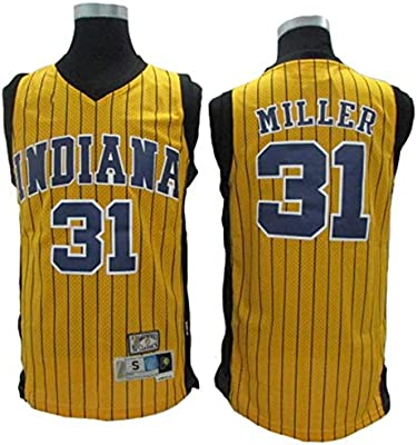 Chándal de Baloncesto for Hombre NBA Pacers No. 31 Miller Classic ...