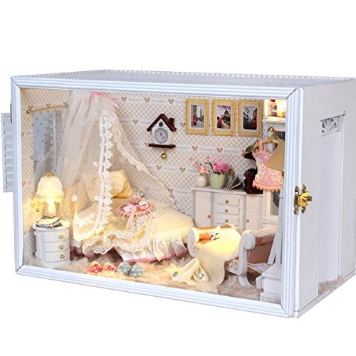 [OK59 Welcome to the Dollhouse DIY Wooden Miniature With LED Furniture Perfect Wedding -- So chic] (Doctor Barbie Costume)