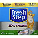 FRESH STEP CAT LITTER 261347 Fresh Step Extreme Odor Solution Scoop Litter Boxes for Cats, 20-Pound