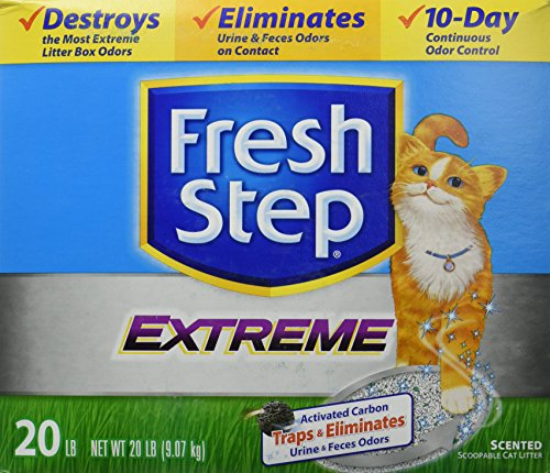 Fresh Step CAT LITTER 261347 Extreme Odor Solution Scoop Litter Boxes for Cats, 20-Pound