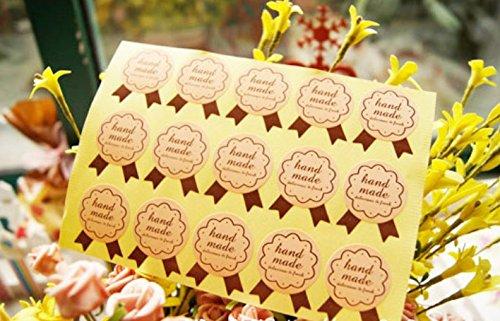 ONOR-Tech 240 Lovely Cute Envelope Label Seal Handmade Baked Label Decorative Sticker (Handmade)