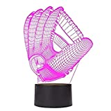 3D Baseball Gloves Night Light Touch Table Desk Optical Illusion Lamps 7 Color Changing Lights Home Decoration Xmas Birthday Gift For Sale