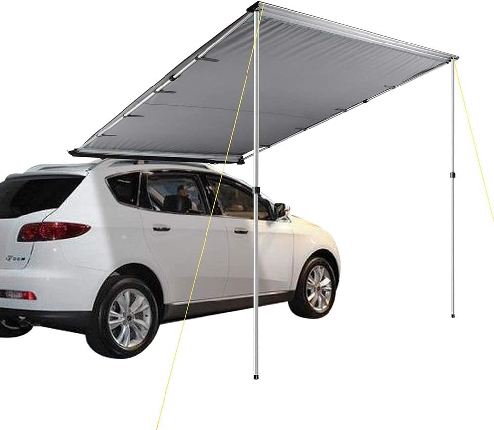 Shade SUV Outdoor Camping Travel Beige Vdasin Car Side Awning Patio Awnings Tent Shelter Camping Sun Shelters,4.6x6.6 Car Side Awning Rooftop Pull Out Tent Shelter PU2000mm UV50