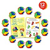 3D Puzzle Ball Erasers Set for Kids by Gamie (Set of 12) | Includes 12 Ball Puzzle Erasers | Fun Brain Teaser for Boys and Girls/Cool Party Favor/Great Carnival Prize for Children