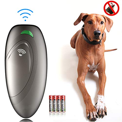 Ultrasonic Dog Barking Control Devices Anti Barking Device Dog Training Aid Handheld Dog Bark Trainer Stop Barking for Walk a Dog Outdoor with Wrist Strap