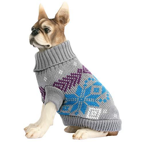 HAPEE Dog Sweaters,Pet Cat Clothes The Diamond Plaid Cat Dog Accessories, Dog Apparel,Pet Sweatshirt