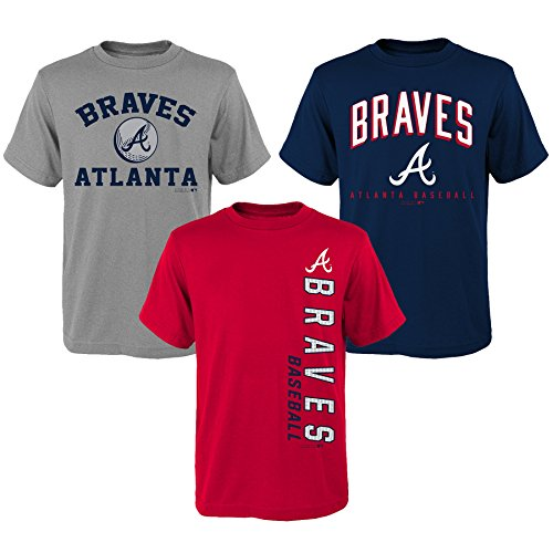 Braves 3Piece Tee Set, L(14-16), Assorted ()