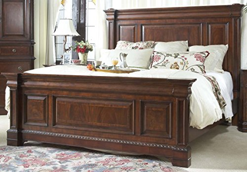 Heritage Mahogany Raised Panel Mansion Bed King Size