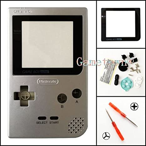 Gametown® Silver Housing Shell Cover Case Replacement Parts For Nintendo Gameboy Pocket Console GBP System