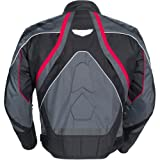 Cortech GX Sport 3 Men's Textile Armored Motorcycle Jacket (Gun Metal/Black, Medium)