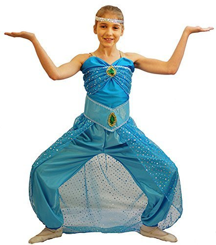 [NEW! World Book Day-Character-Aladdin-Genie PRINCESS JASMINE / YASMIN Child's Fancy Dress Costume - All Ages (AGE] (Childrens Fancy Dress Costumes Uk)