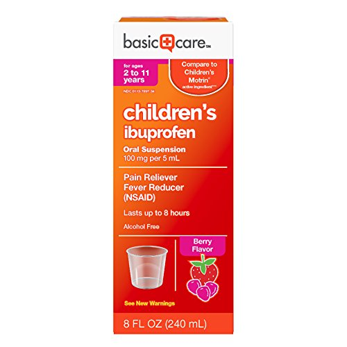 Basic Care Children's Ibuprofen Oral Suspension, 8 Ounce
