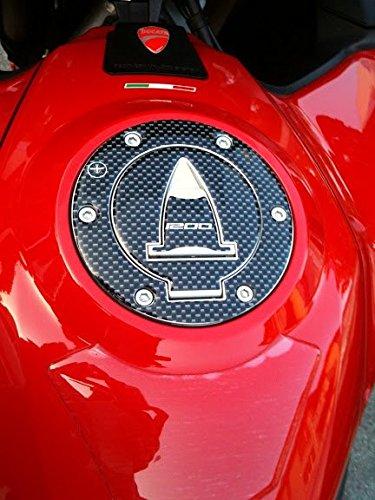 Tap/ón Dep/ósito Adhesivos 3D Protecci/ón Compatible con Ducati Multistrada 1200 Carbono con Letras Gris Claro