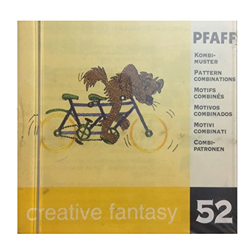 Pfaff Creative Fantasy Embroidery card design #52 for 7570 and others - Motif pattern combinations