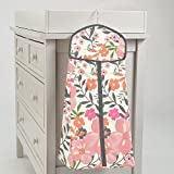 Carousel Designs Coral Pink Tropic Floral Diaper Stacker