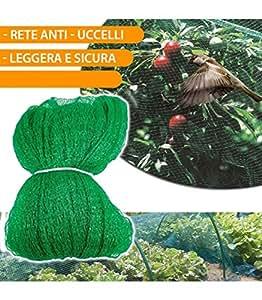 TrAdE shop Traesio Red Anti Pájaros Protección hortalizas Verde 4x 6Metros Jardín Orto antiuccelli