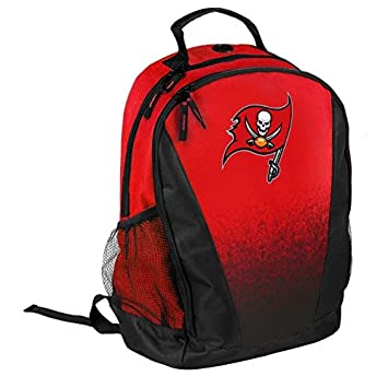 FOCO NFL Tampa Bay Buccaneers Logo Gradient Print Primetime Deluxe Backpack, Team Color, Standard, One Size