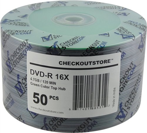 CheckOutStore 100 16X DVD-R 4.7GB Green Top