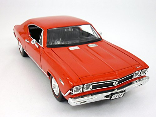 Chevrolet Chevelle (1968) SS-396 1/24 Scale Diecast Metal Model - RED (Model Diecast Chevelle)