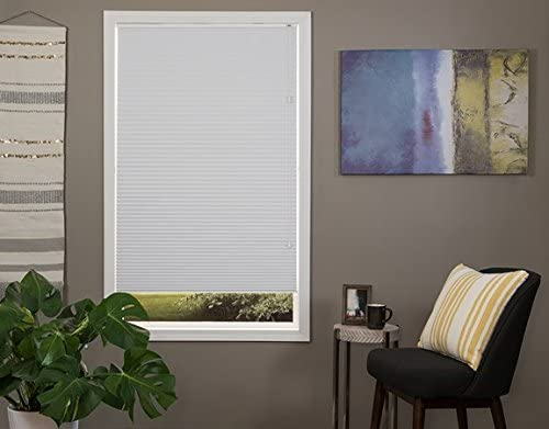 Premium White Celluar Shade Blackout Blind 35.5″ 35 1/2 W x 72″ L ACTUAL SIZE 35″x72″
