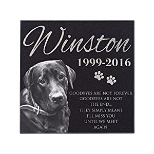 Lara Laser Works Personalized Dog Memorial with Photo Free Engraving MDL1 Customized Grave Marker 5