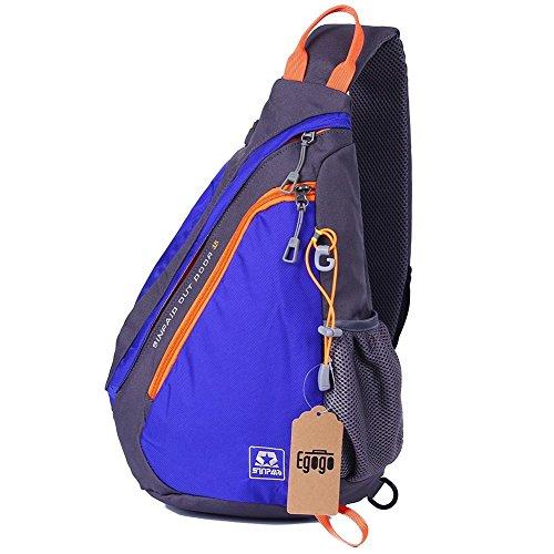 EGOGO multifunción mochila bandolera cruzada cuerpo bolso hombro para ciclismo senderismo escuela bolsas (Caliente Azul) Caliente Azul