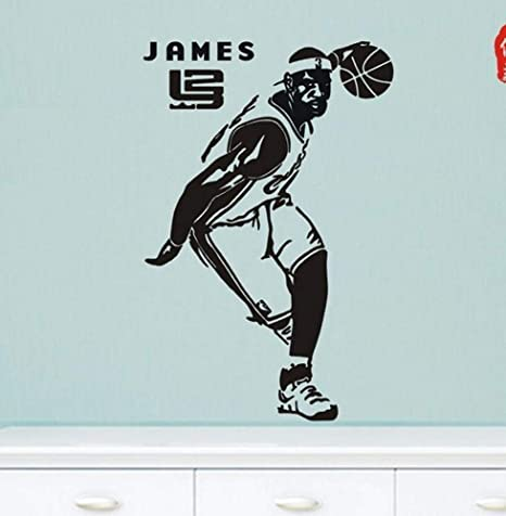 Amazon.com: Luziang Wall Stickers,Basketball NBA Star Wall Sticker Lebron James Poster Sticker Dormitory Bedroom Background Wall Decorative Sticker: Kitchen ...