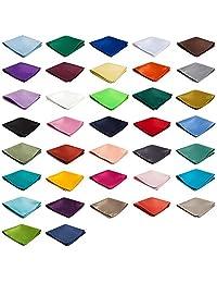Authentic Jacob Alexander - Wholesale Lot of 10 Men's Solid Color Pocket Squares