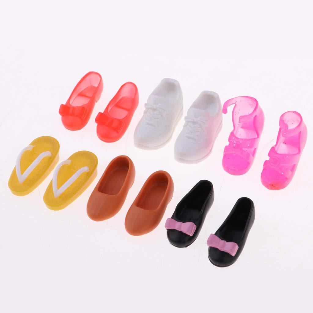 perfeclan 9 Pares De 1//6 Mu/ñecas Zapatos Sandalias para Mu/ñecas Blythe Accesorios De Ropa Ni/ños Ni/ñas Juguete