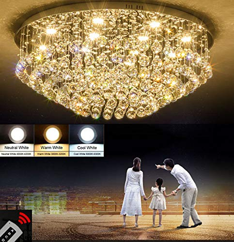 FidgetFidget Modern LED Living Room Light Crystal Light Bedroom Light Restaurant Light #8032 D-60cm x H-32cm